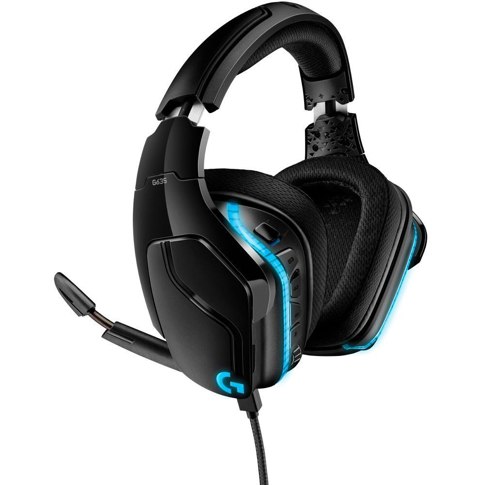 Headset Gamer Logitech G635, RGB, Som Surround 7.1, Drivers Pro-G de 50mm - 981-000748