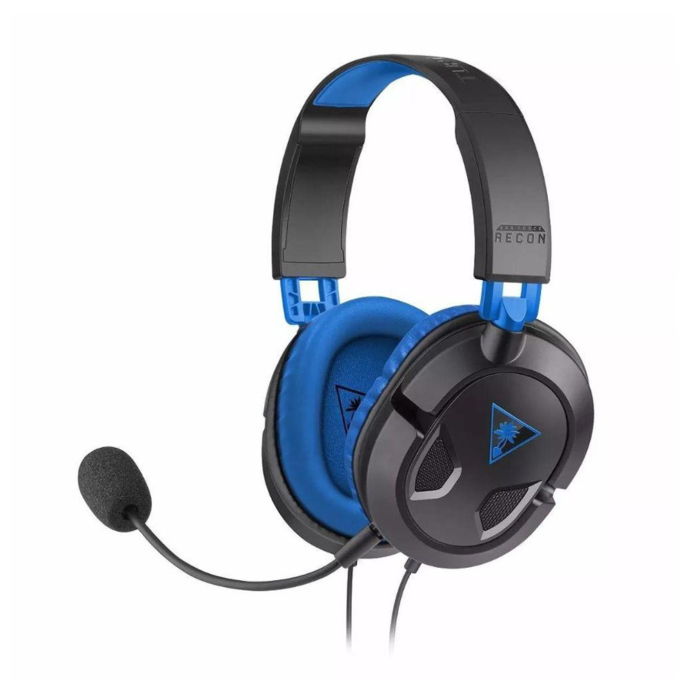 Headset Gamer Turtle Beach Recon 60P Earforce Preto e Azul (Embalagem avariada)