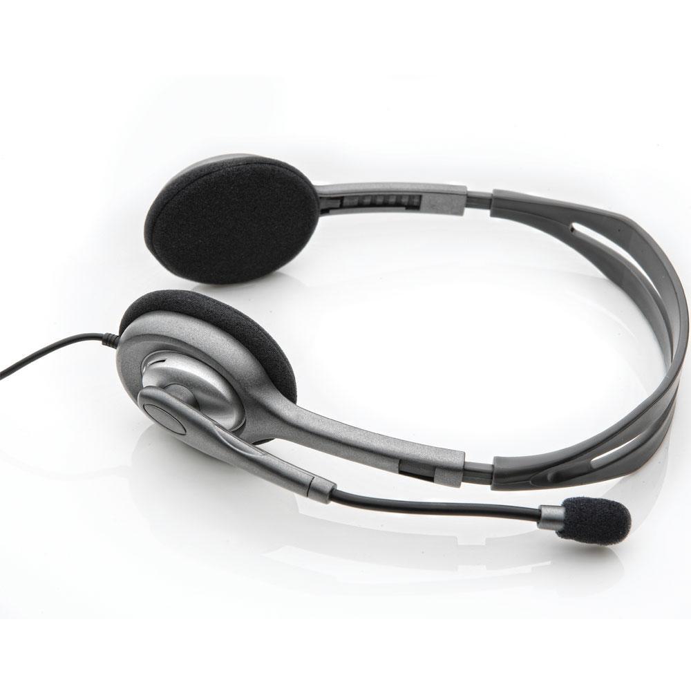 Headset Logitech H111 Estéreo Analógico P3 Cinza - 981-000612