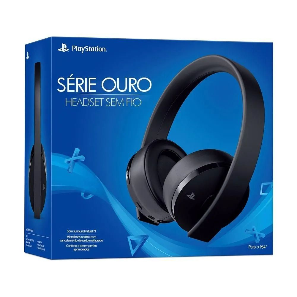 Headset Sony Gold New 7.1 Wireless CUHYA-0080 PS4 e PS4 VR