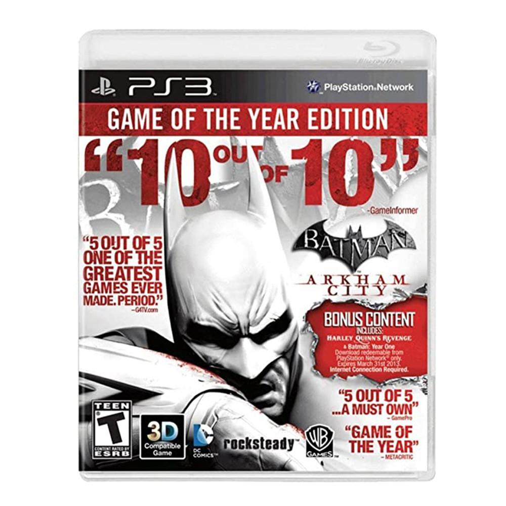 Jogo Batman Arkham City Edição Jogo do Ano - PS3 (Usado)