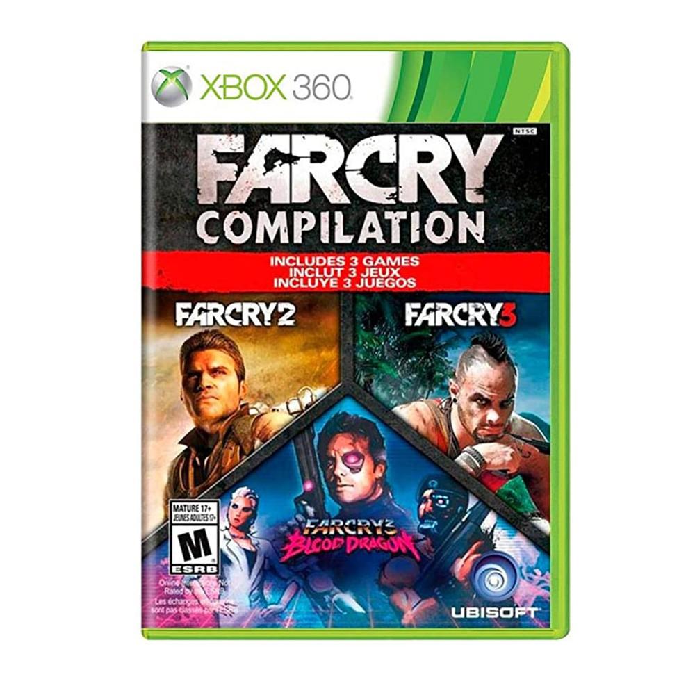 Jogo Far Cry Compilation (Far Cry Blood Dragon + Far Cry 2 + Far Cry 3) Xbox 360 (Usado)