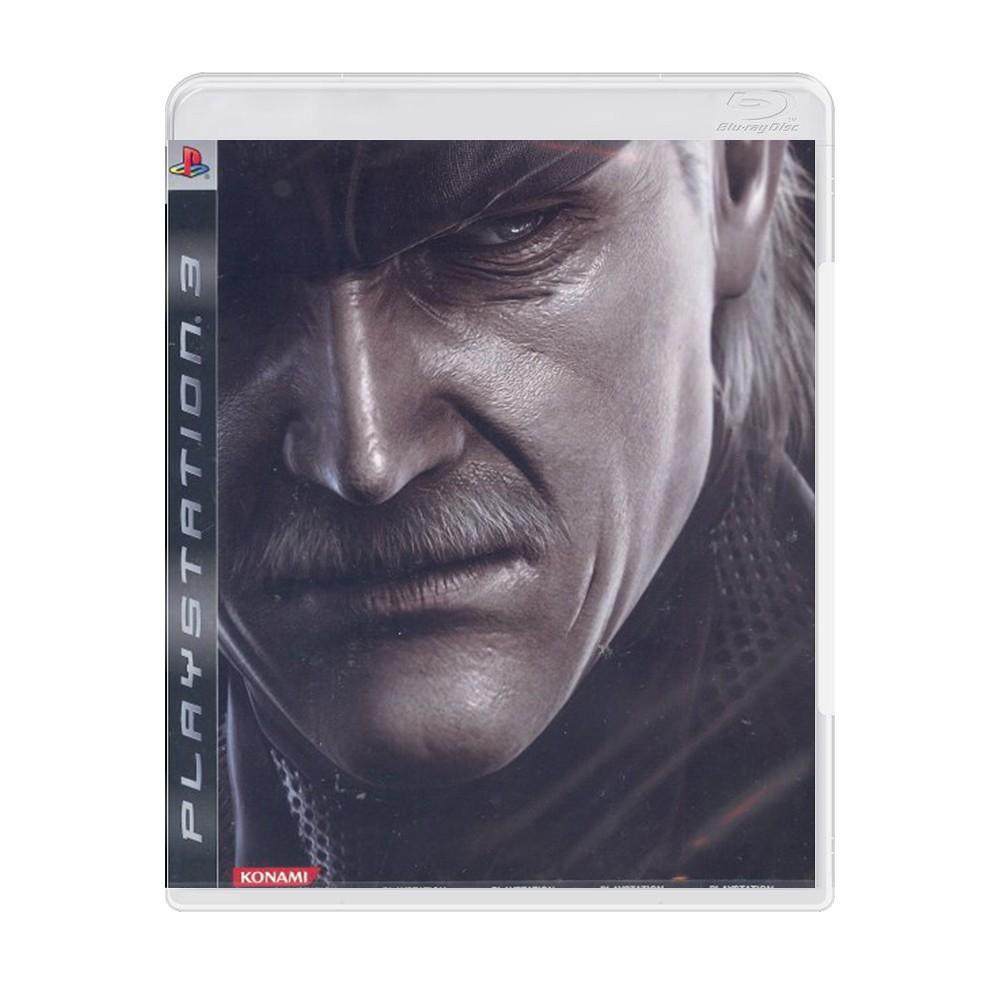 Jogo Metal Gear Solid 4 em Japonês - PS3 (Usado)