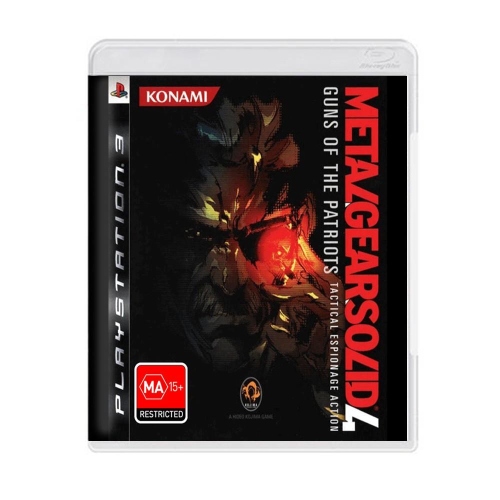 Jogo Metal Gear Solid 4 Guns of the Patriots - PS3 (Usado)