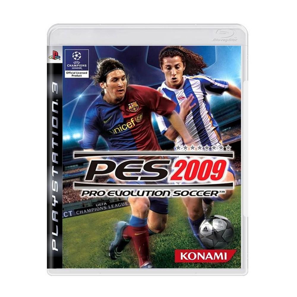 Jogo Pro Evolution Soccer 2009 (PES 2009) - PS3 (Usado)