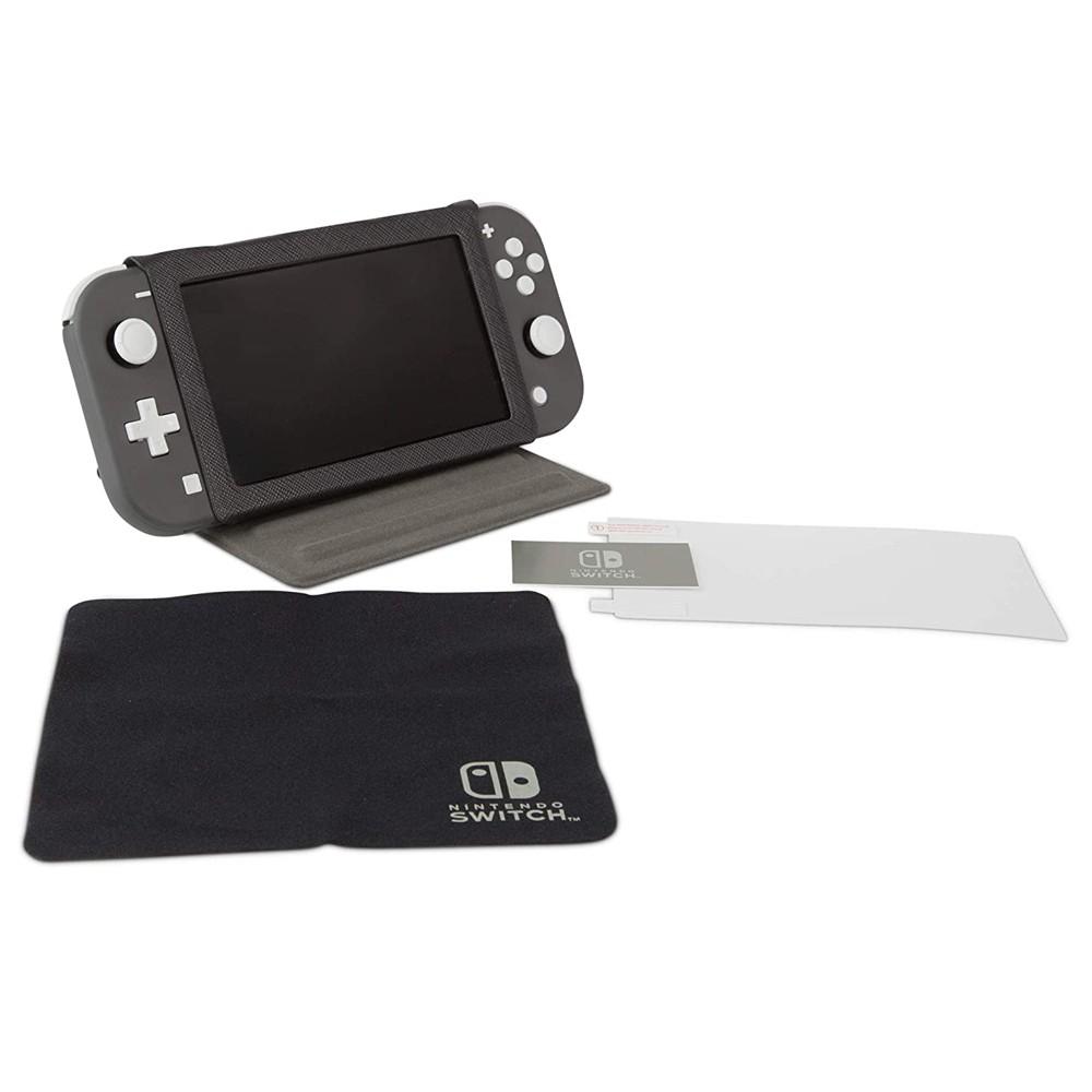 Kit PowerA Case de Proteção + Pano de Limpeza, Protetor de Tela + Aplicador - Nintendo Switch Lite