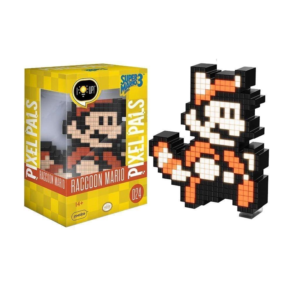 Luminária Pixel Pals Racoon Mario 024 - PDP