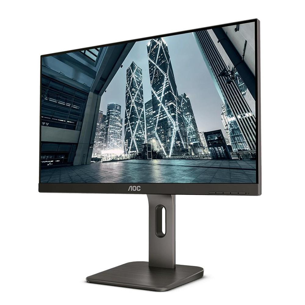 Monitor AOC LED 23.8´, Widescreen, Full HD, DisplayPort, HDMI, Altura Ajustável - 24P1U