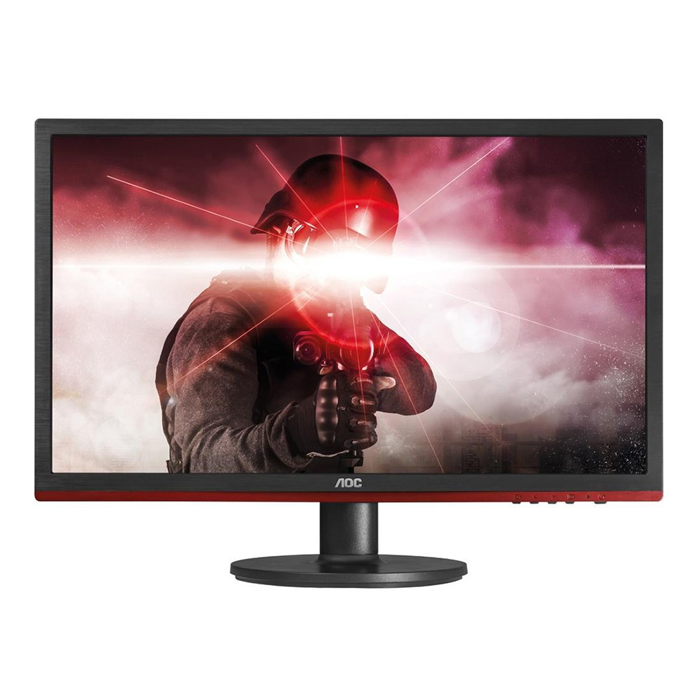 Monitor Gamer AOC Sniper LED 24´ Widescreen, Full HD, HDMI/VGA/DVI/Display Port, FreeSync, Som Integrado, 1ms, Preto - G2460VQ6