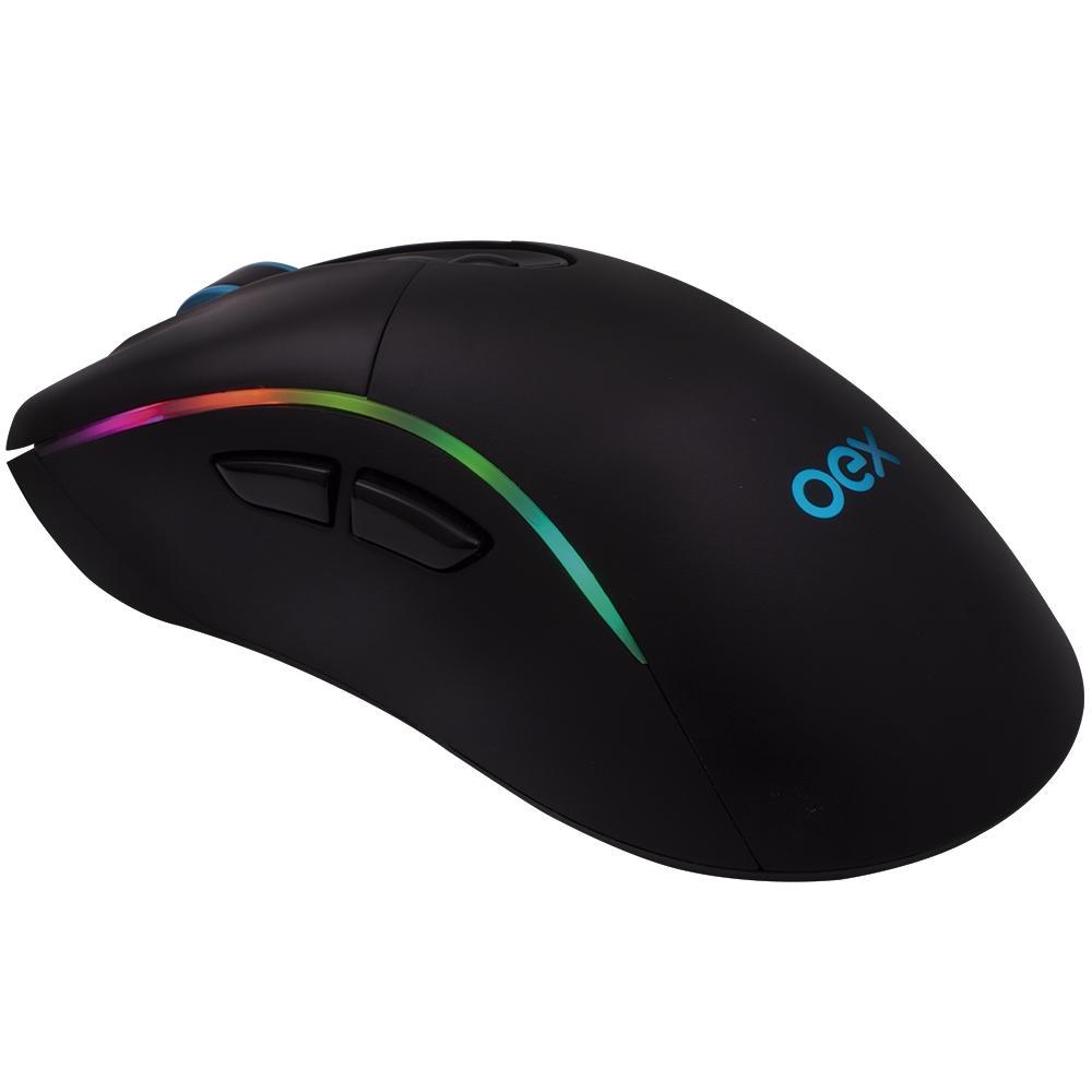 Mouse Gamer Macro 7 Botões 14400Dpi Usb Led Titan MS318 Oex