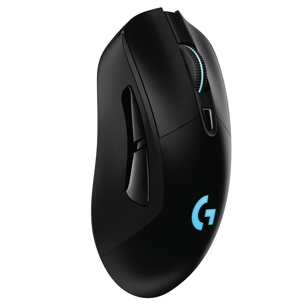 Mouse Sem Fio Gamer Logitech G703 Hero 16k Lightspeed, Recarregável, RGB Lightsync, 6 Botões, 16000 DPI - 910-005639
