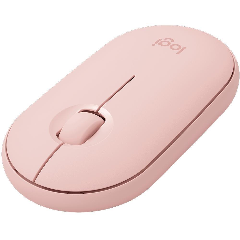 Mouse Sem Fio Logitech Pebble M350, Rose - 910-005769