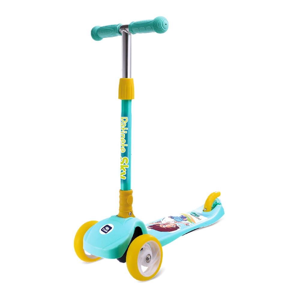 Patinete Sky Infantil Regulável Azul - Bel Fix