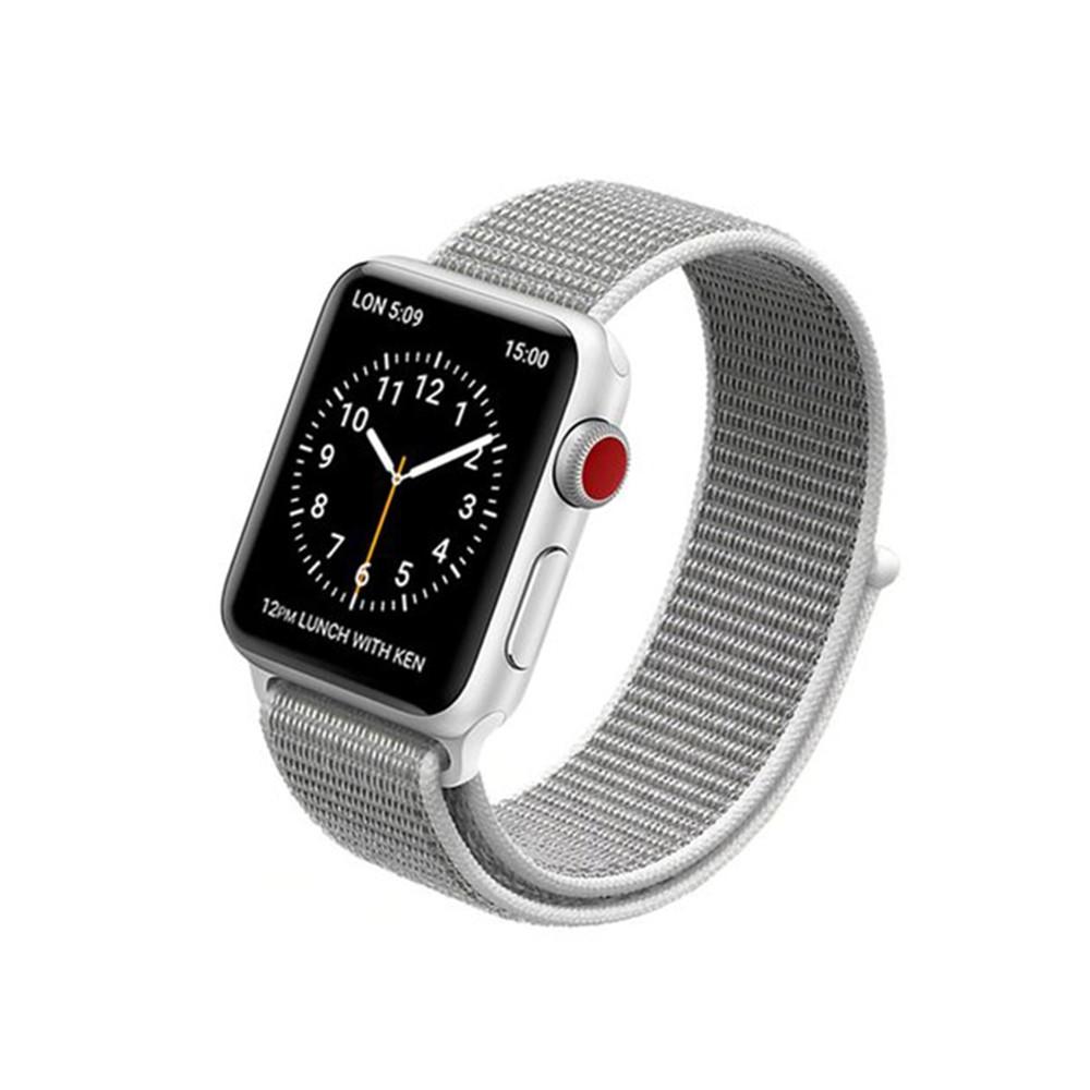 Pulseira para Apple Watch Cinza e Branco Nylon 38MM Flexinter