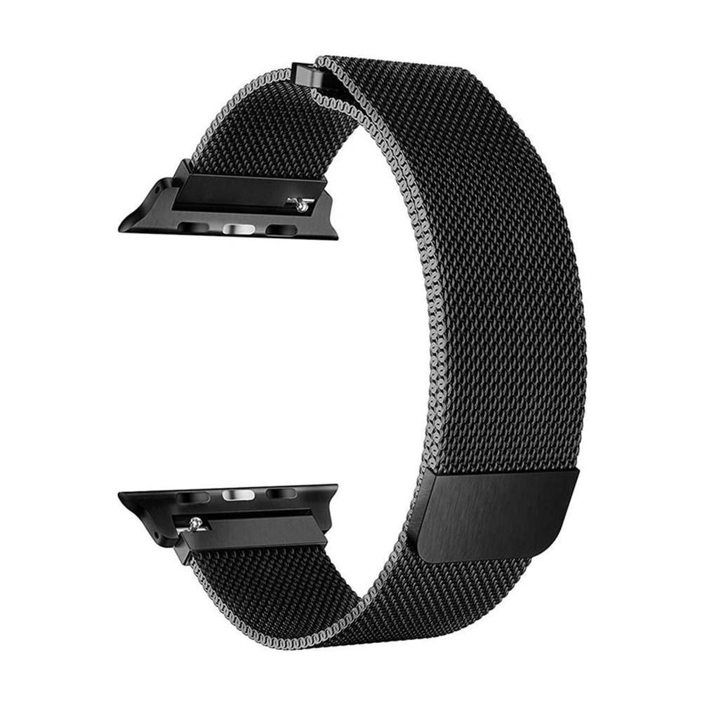 Pulseira para Apple Watch Preta Milanese 42MM Flexinter