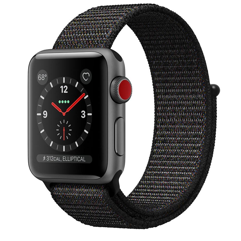 Pulseira para Apple Watch Preta Nylon 42MM Flexinter