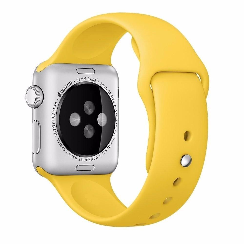 Pulseira para Apple Watch Silicone Basica Amarelo 40/38MM Flexinter