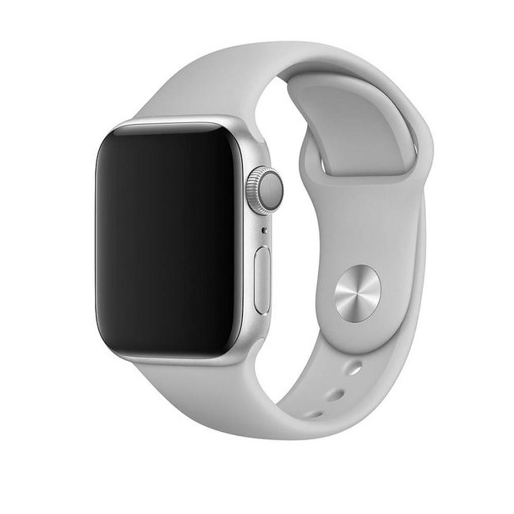 Pulseira para Apple Watch Silicone Basica Cinza 42MM Flexinter
