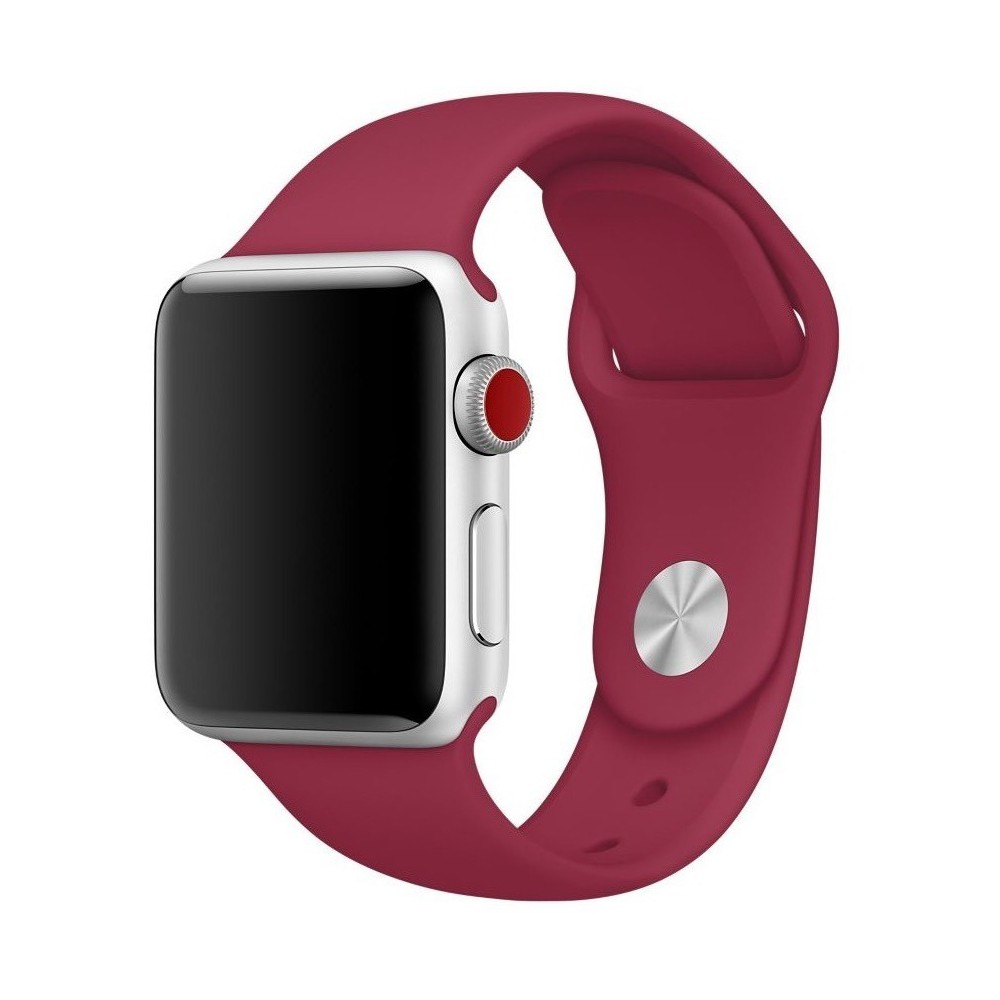 Pulseira para Apple Watch Silicone Basica Marsala 40/38MM Flexinter