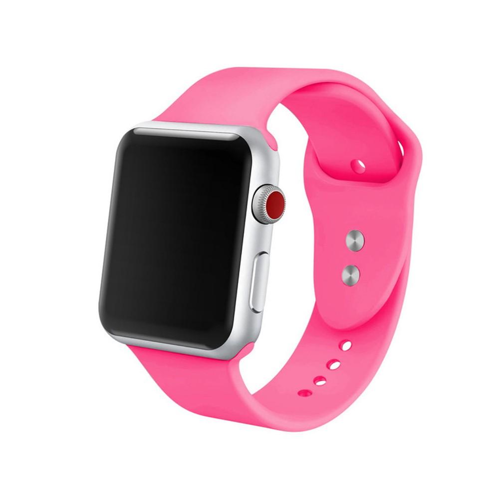 Pulseira para Apple Watch Silicone Basica Rosa Neon 40/38MM Flexinter