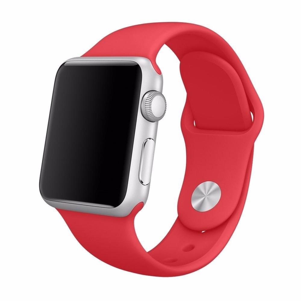Pulseira para Apple Watch Silicone Basica Vermelho 40/38MM Flexinter