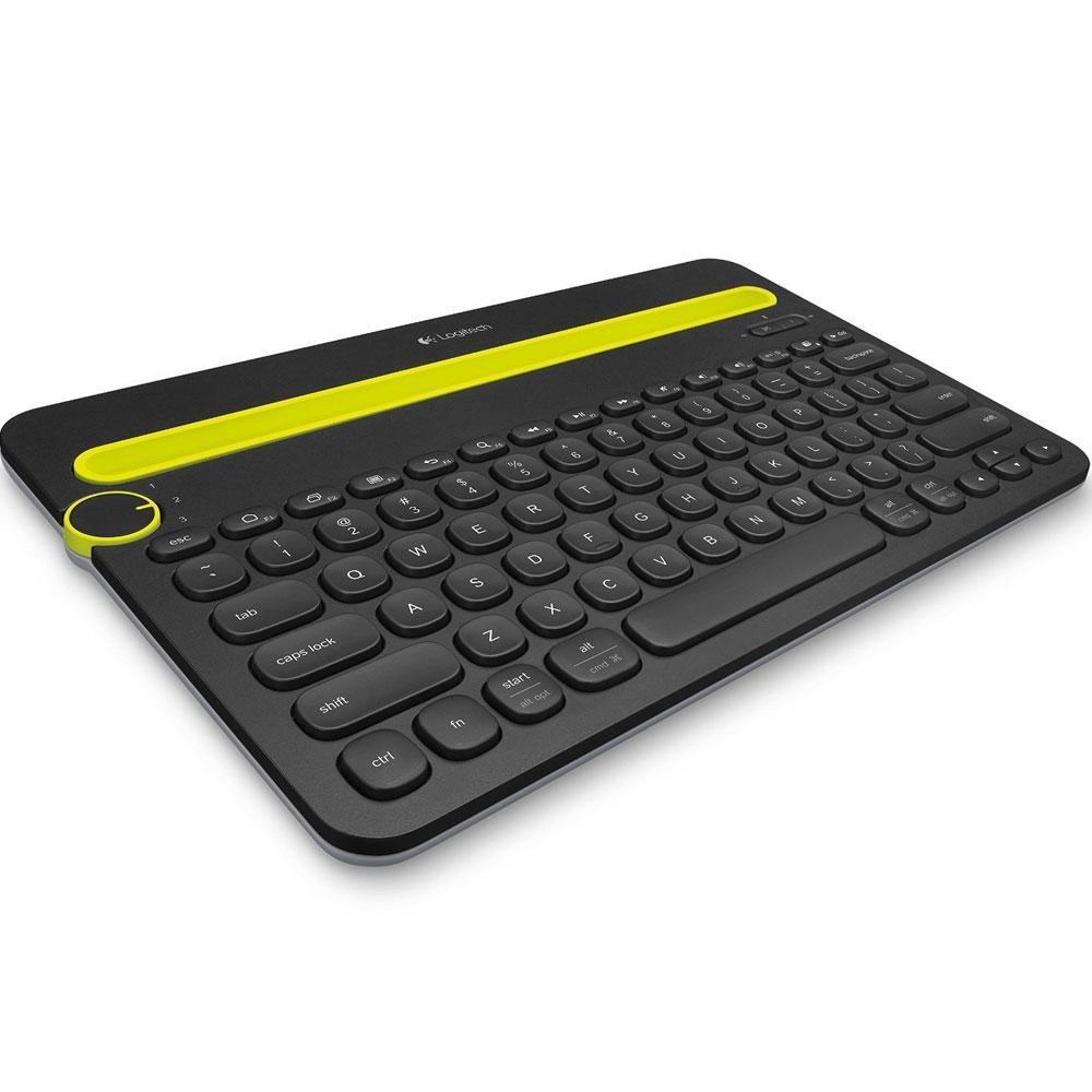 Teclado Sem Fio Logitech K480, Bluetooth, Multi-Device, US, Cinza - 920-006348