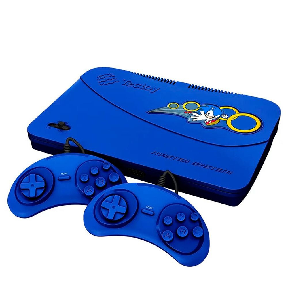 Vídeo Game Tectoy Master System Azul com 2 Controles