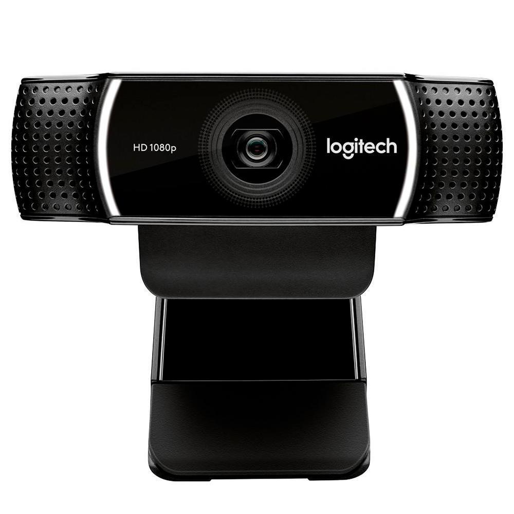 Webcam Full HD Logitech C922 Pro Stream com Microfone Embutido, USB, 1080p e Tripé Incluso, Compatível Logitech Capture - 960-001087