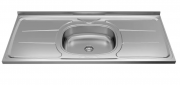 Pia de cozinha com cuba plus 120cm aço inox ghelplus