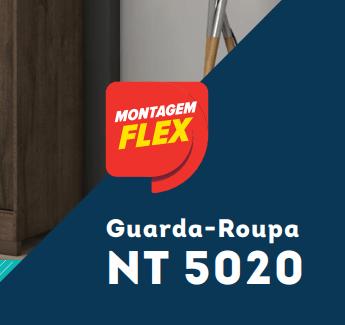 GUARDA-ROUPA CASAL COM ESPELHO 3 PORTAS E 4 GAVETAS NOTÁVEL