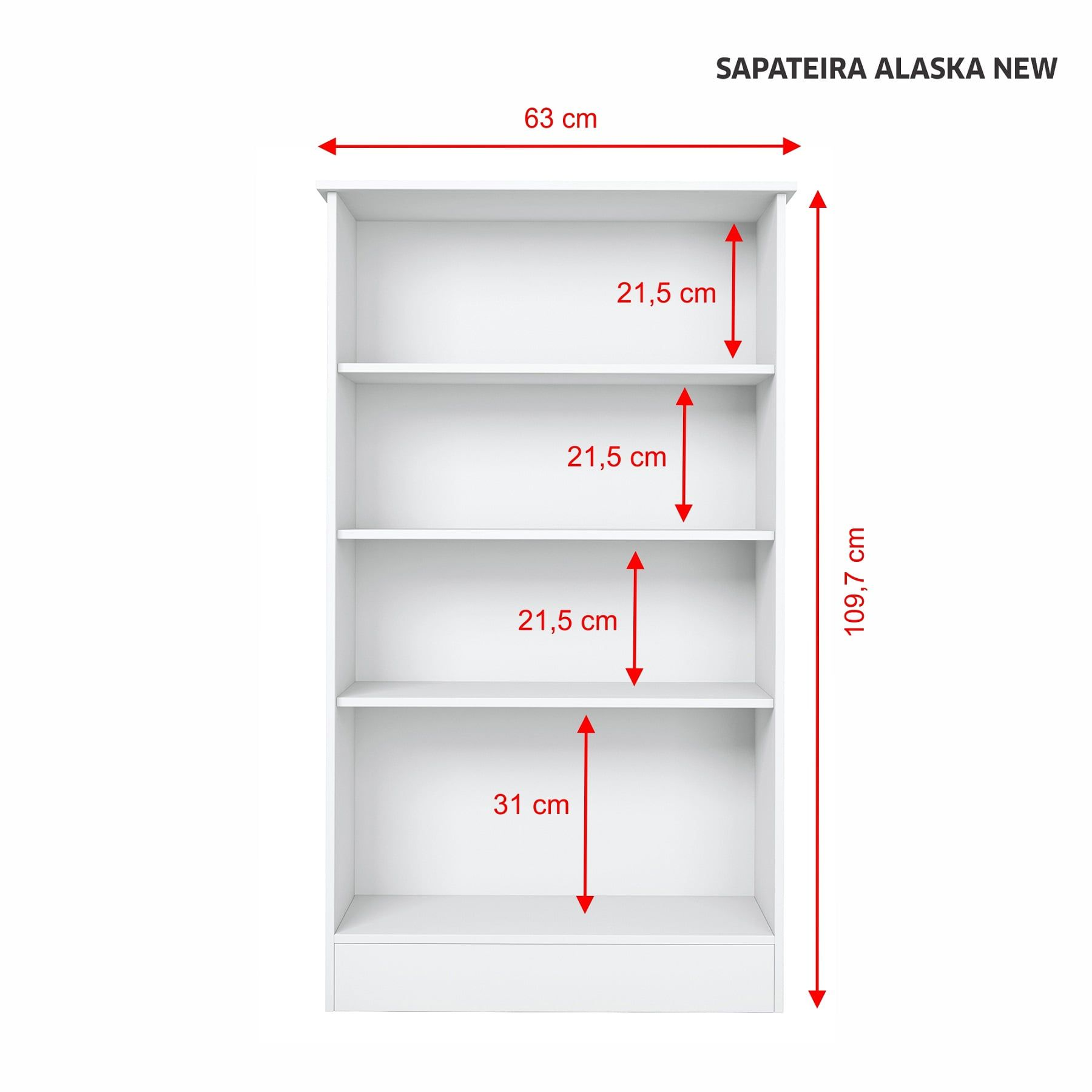 SAPATEIRA ALASKA NEW 2 PORTAS NOTÁVEL MÓVEIS