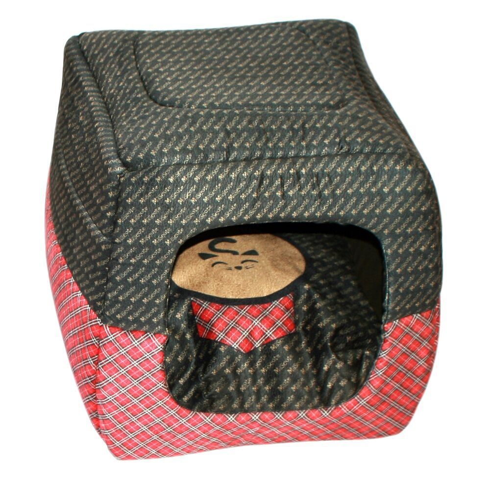 Cama Para Cachorro Xadrez 2 em 1 P 50 x 50 x 50 cm