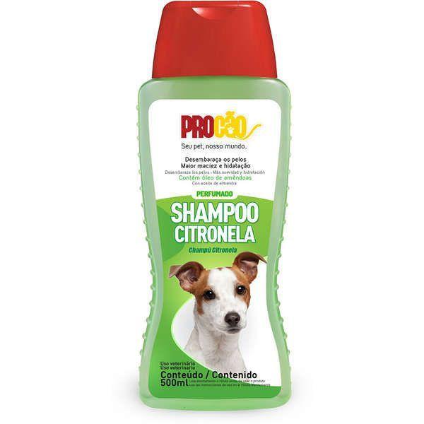 Shampoo Cachorro Citronela Perfumado 500ml Procão