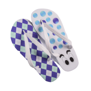 Par de Chinelo Especial Xadrez Azul