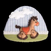 Quadro Infantil para porta Cavalinho