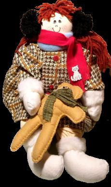 Boneca de pano Inverno