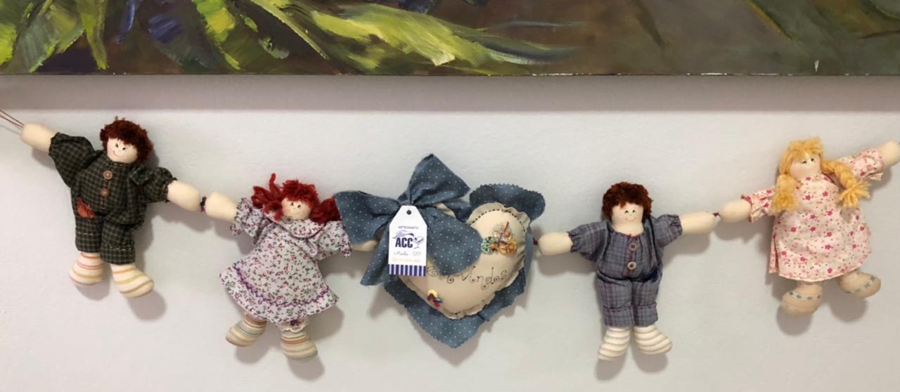 Mobile bonecas de pano