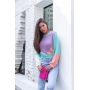 Blusa de Tricot Multicolor Manga Longa