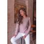 Blusa de Tricot Rose com Recorte nas Costa