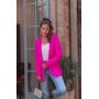 Cardigan de Tricot Aberto Pink com Capuz