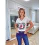 T-Shirt Rolling Stone Bordado