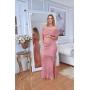 Vestido de Tricot Ciganinha Longo Rosê