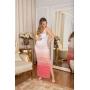 Vestido de Tricot Longo Candy Color Alças Trançadas