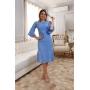 Vestido de Tricot Midi Azul