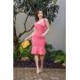 Vestido de Tricot Modal Rosa de Alças