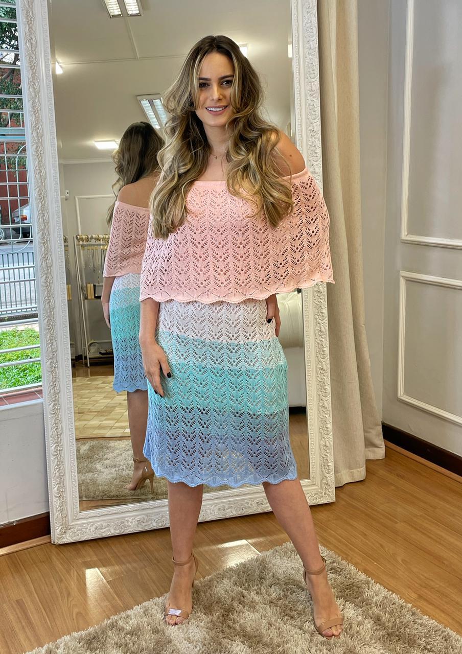 Vestido Ciganinha Curto Degrade Colors