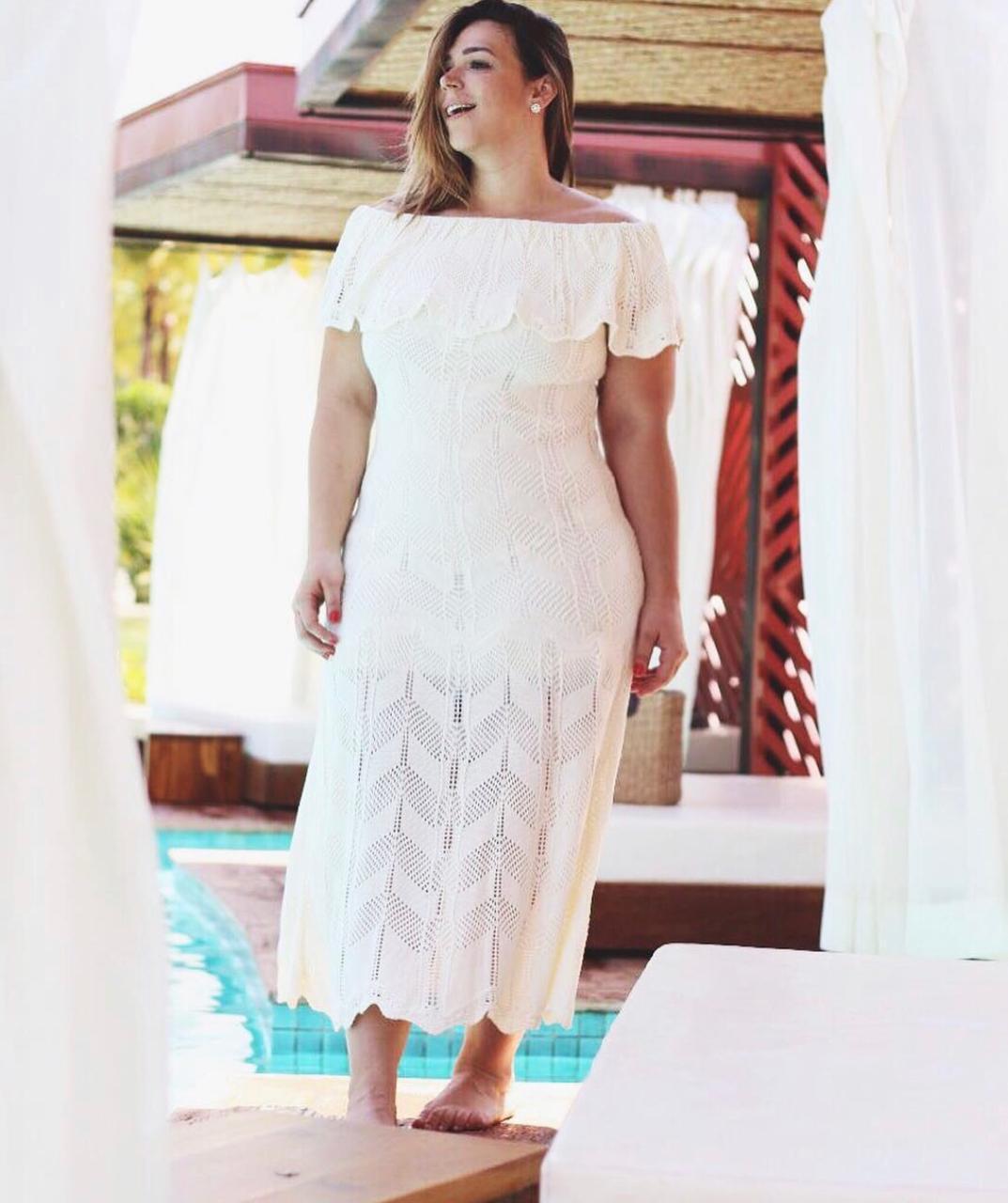 Vestido de Tricot Ciganinha Longo Plus Size