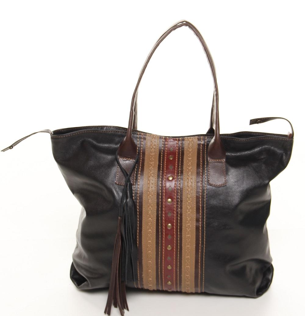 Bolsa Shopping Bag em Couro TDS03