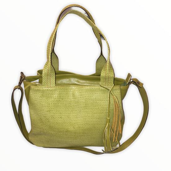 Bolsa Bag Grande em Couro Verde