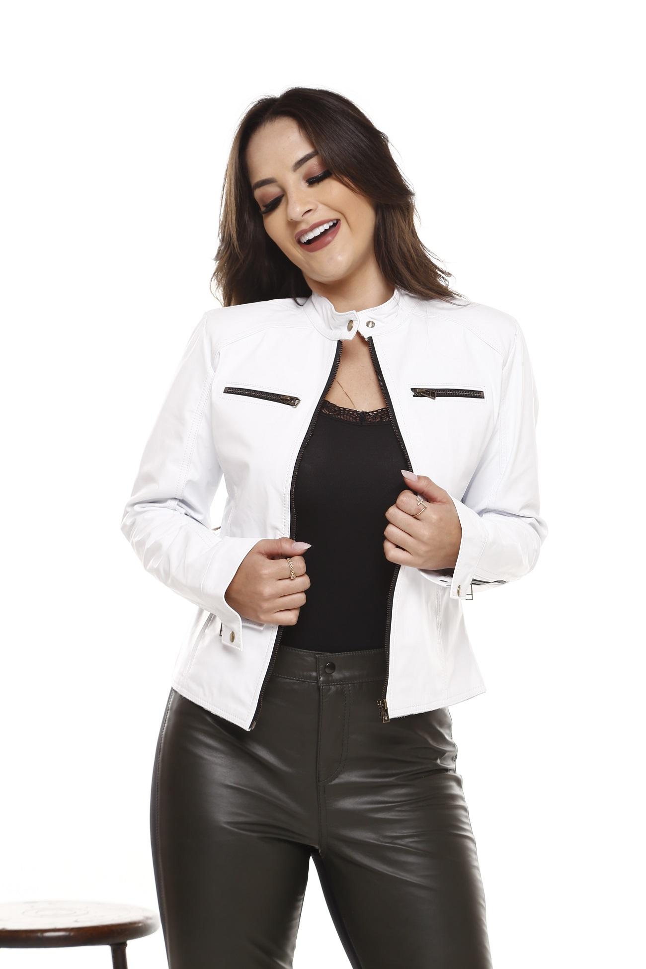 Jaqueta de Couro Gina Branco